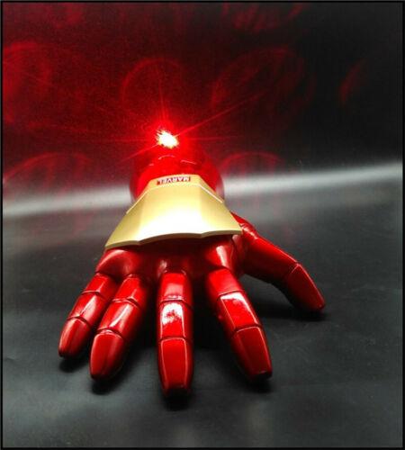 Marvel Avengers 1:1 Iron Man Tony Stark Gloves LED Light Hand with Laser Cosplay