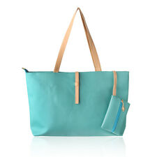 New Large Elegant Green Tote Shoulder Bag Handbag Purse Organizer for Ladies