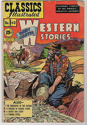Classics Illustrated #62 Western Stories VG/FN HRN 89 Bret Hartes 15 cents