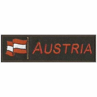 Aufnaeher Patches Applikation Flagge Wappen 10 x 3cm Austria Oesterreich 00872