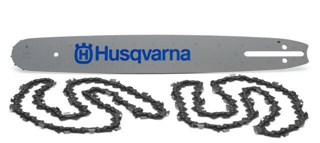 "Husqvarna 20/"" chainsaw bar and 2 20/"" chains .325 pitch"
