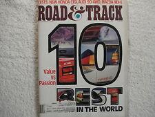 Road & Track December 1987 Honda CRX Audi 90 4WD Mazda MX-6 1951 Simca BMW Z1