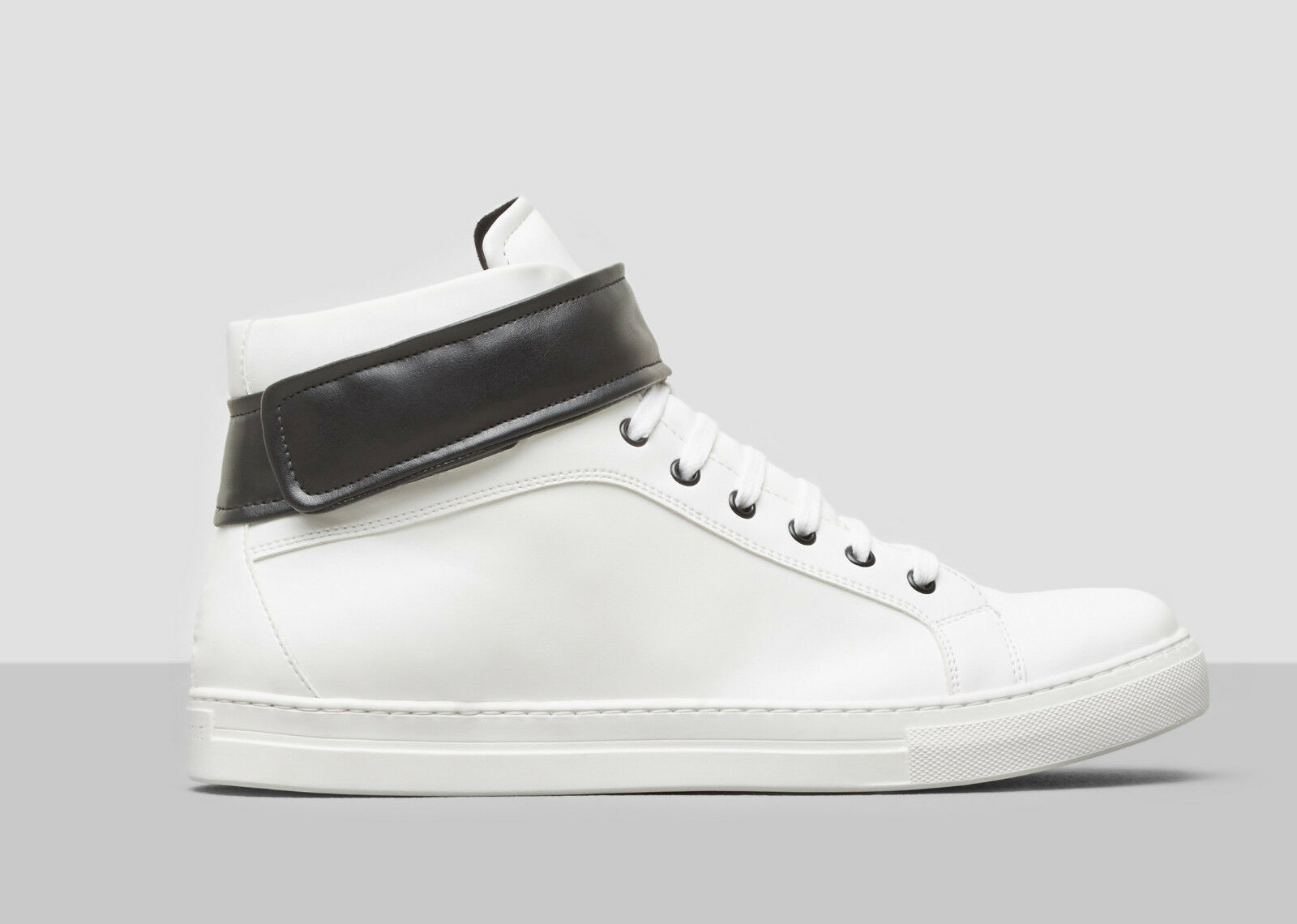 160.00 kenneth Cole DOUBLE POINT II HIGH-TOP SNEAKER - WHITE, Size 10.5