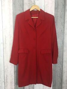 Principles-Rojo-Botones-palangre-Blazer-chaqueta-tamano-de-Reino-Unido-12