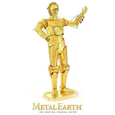 Fascinations Metal Earth C-3PO Star Wars Gold Tone Laser Cut 3D Model Kit