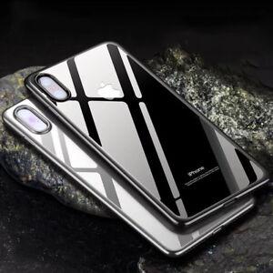 Schutz-Huelle-Panzerglas-fuer-iPhone-X-10-transparent-Tasche-CASE-ETUI-Folie