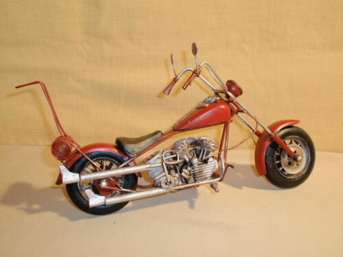 Oldtimer Chopper rot ca 32cm Blech-Modell
