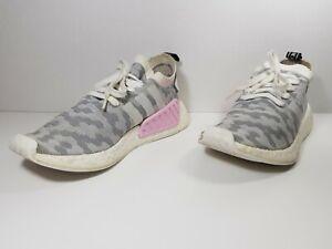 Details about Adidas Originals NMD R2 PK Primeknit Women's Shoes Gray White BY9520 Sz 9 1/2