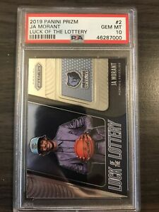 2019-20-Panini-Prizm-Ja-Morant-Luck-of-The-Lottery-Rookie-PSA-10-Grizzlies-RC