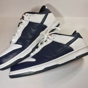 san francisco 07a6f 839bf Details about Nike Dunk Low CL AJ6 Jordan Pack Olympic 6 Obsidian / White  304714 442 size 10