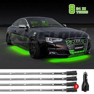 Image is loading 8pc-GREEN-LED-UNDER-CAR-LIGHTS-TRUCK-SUV- & 8pc GREEN LED UNDER CAR LIGHTS TRUCK SUV NEON LIGHTING KIT USA ... azcodes.com