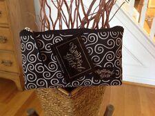 Pampered Girls Black & White Swirl Medium Cosmetic/Accessory Bag -New -8 1/2 x 5