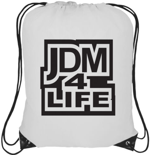 JDM 4 Life Logo 13L Drawstring Tote Backpack Rucksack Bag
