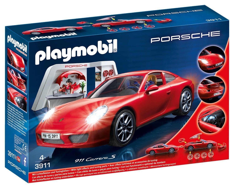 Playmobil 3911  Porsche 911 Carrera S avec atelier de tuning  & effets lumineux