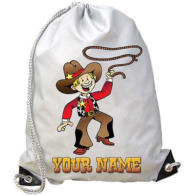 Affidabile Cowboy Personalizzata Palestra / Pe / Nuoto Borsa-grande Regalo Per I Bambini E Anche Con Nome-mostra Il Titolo Originale Prezzo Di Strada