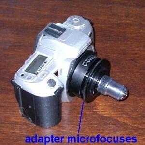 Adattatore-MICROFOCUS-per-ottiche-microscopio-RMS-x-canon-nikon-pentax-ID-3844