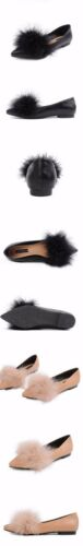Pelo Simil Pelle Beige Comode Nero Donna Mocassini 8591 Ballerine Scarpe Basse qFw6g