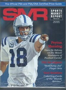 SMR-Sports-Market-Report-PSA-DNA-Guide-Magazine-PEYTON-MANNING-FALL-2015-NEW