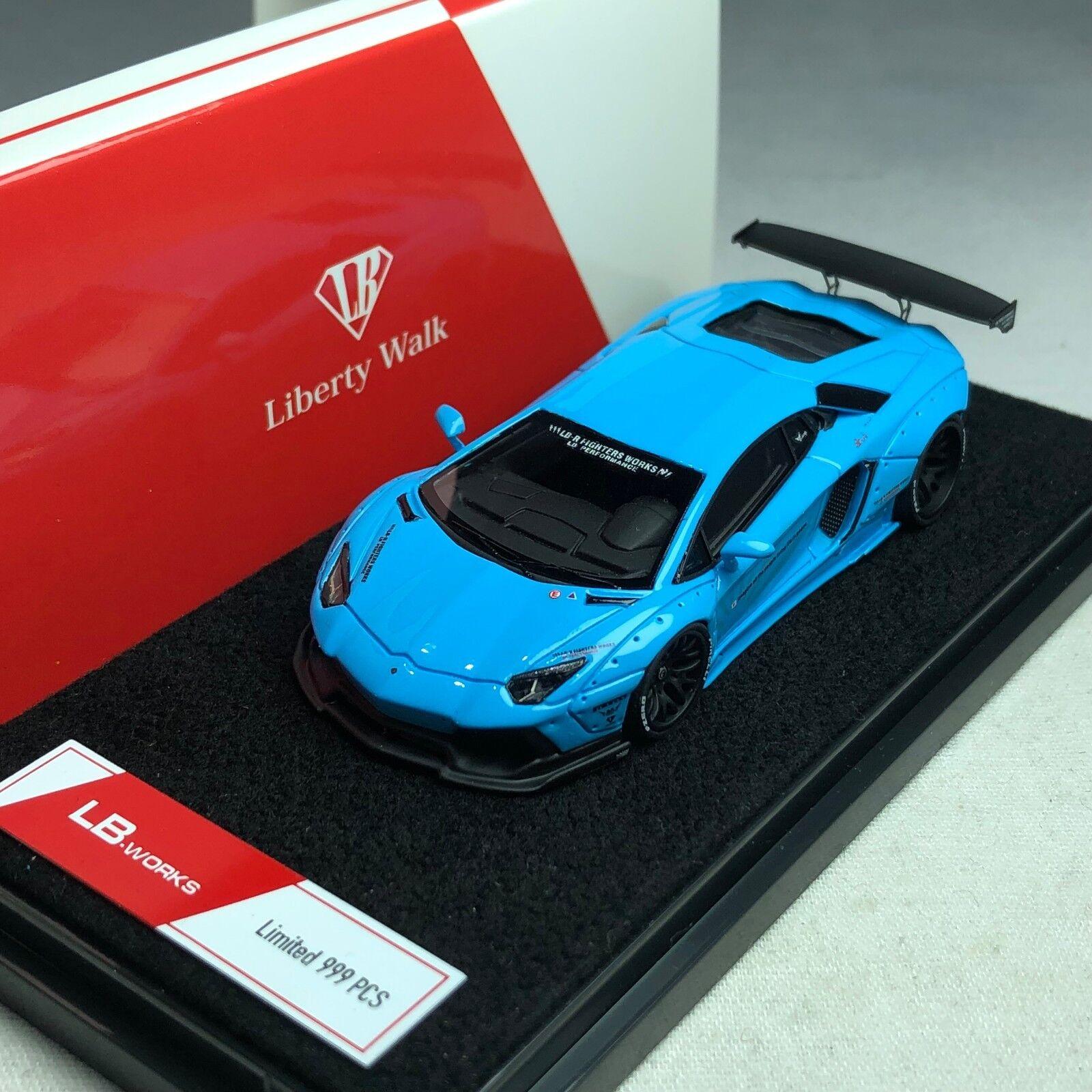 1 64 LB WORKS Lamborghini LP700 Baby bluee Ltd 999 pcs