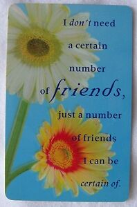 American Greetings plastic inspiration card FRIENDSHIP Positively 1,B25