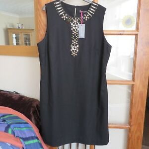Boden Black Bnwt Edition Dress Limited 18 Size Embellished qrW4qT1Z