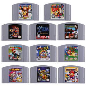 For-Nintendo-64-N64-Mario-Smash-Bros-Zelda-Video-Game-Cartridge-Console-US-Card