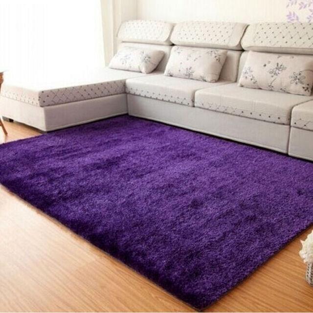Fluffy Rugs Anti-Skid Shaggy Area Rug Floor Mat Dining  Home Room Bedroom Carpet
