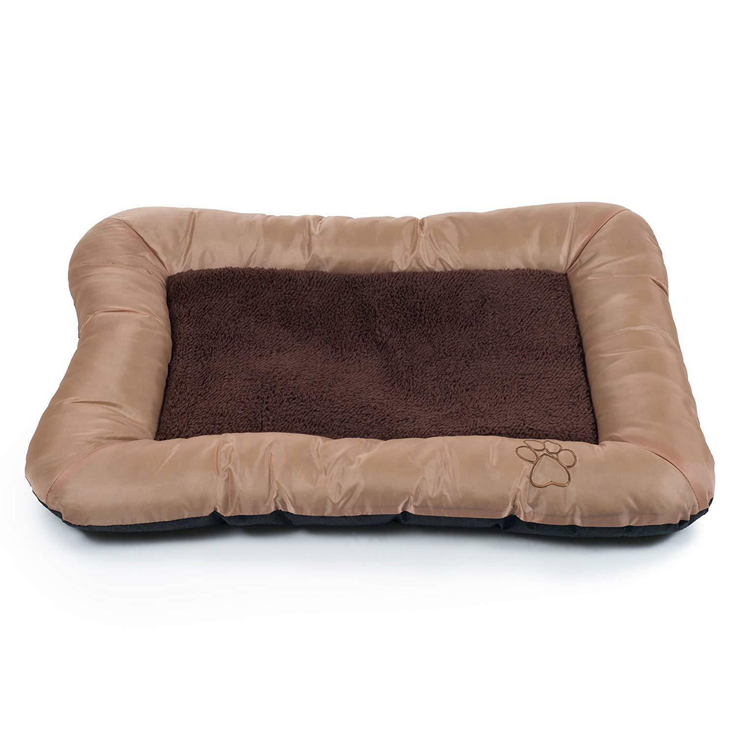 Paw Plush Cozy For Pet Dog Bed Tan Large  33 x24  Plush Cozy Pet Bed NEW