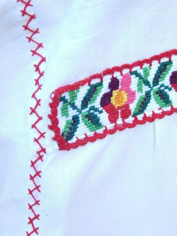 VINTAGE 50's/60's HUNGARIAN TOP~Needlepoint Embro… - image 5