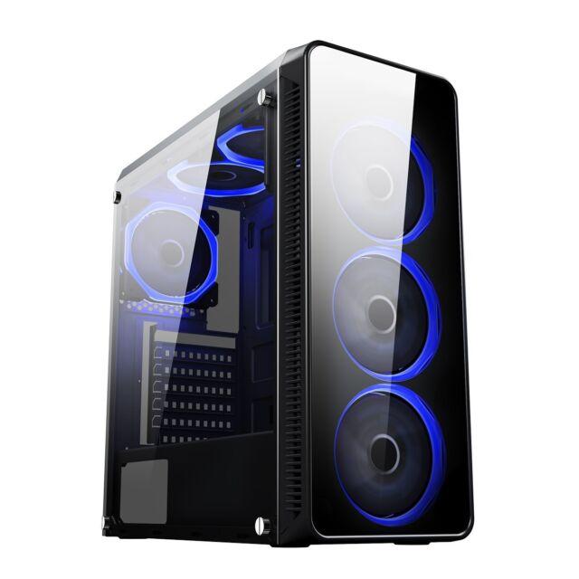 CiT Blaze Mid Tower Gaming Case - Black USB 3.0
