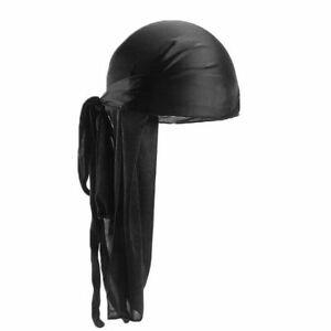 Men-Women-Turban-Hat-Pirate-Doo-Durag-Headwear-Comfortable-Silk-Silky-Feel-Cap
