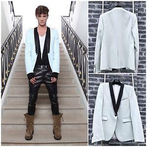 87d51c07 Rare & Great SS12 Campaign Ad Balmain Mint Silk Collar Wool Tuxedo ...