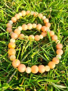 Pink Aventurine & Honey Jade Healing Bracelet: happiness, prosperity,...