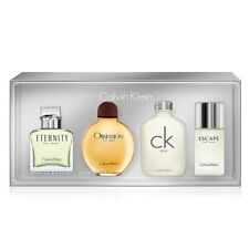 Calvin Klein 4pc Mini Gift Set Eternity Obsession CK One Escape Cologne for Men