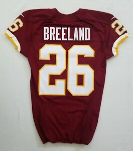 best loved 5952e 207ba Details about #26 Bashaud Breeland of Washington Redskins NFL Game Issued  Jersey