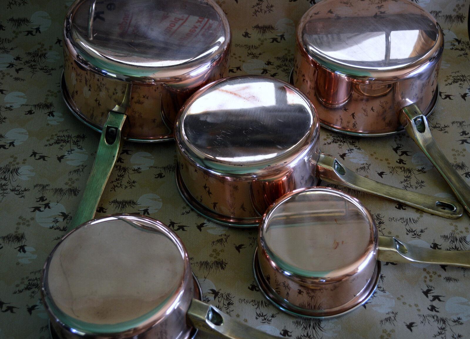 French copper pots pans cuisine professional casseroles en cuivre