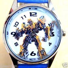 Uurwerk Transformers, blauwe armband met print  Ø 36,5 mm L =  23,5 cm