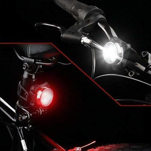 DKINs LED Fahrradlicht Set,USB Wiederaufladbare Fahrradleuchte LED Weißlic