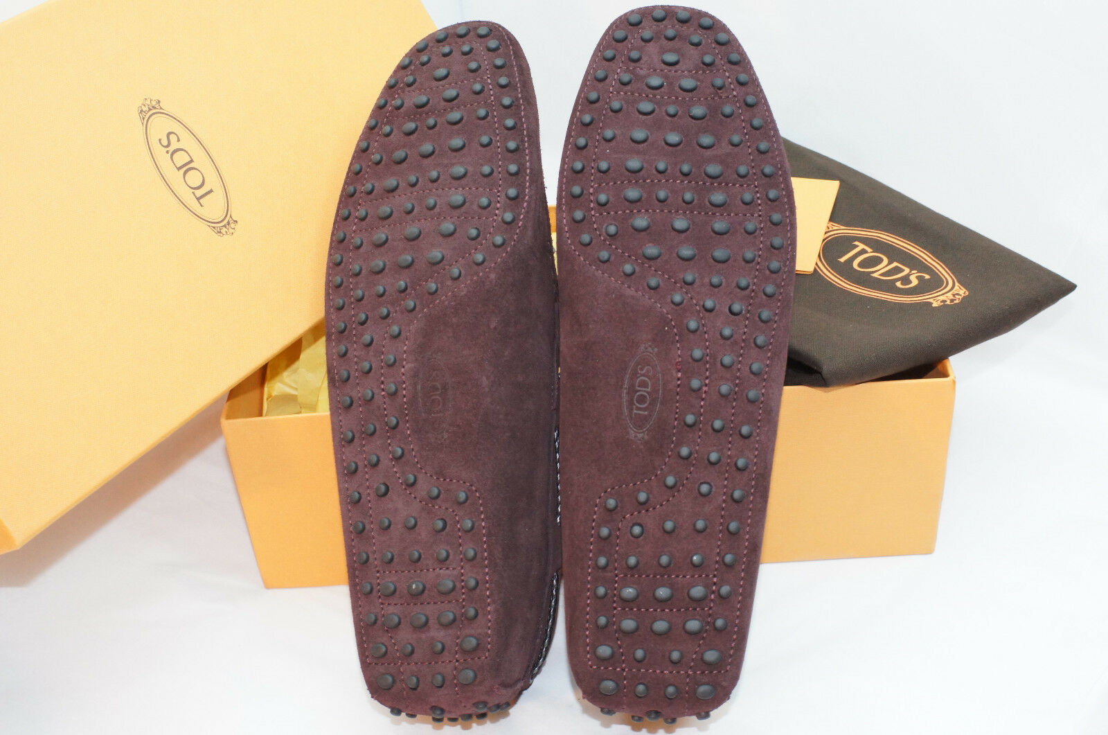 New Tod's Men's Men's Men's shoes Loafers Drivers Size 8 Laccetto Gommini Suede Sale Gift d93a01