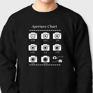 4cb12349 Image is loading Aperture-Chart-Funny-Camera-Lens-T-shirt-Photography-