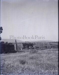 Algerie-Tlemcen-Ruines-de-Mansourah-c1900-NEGATIF-Photo-Plaque-Verre