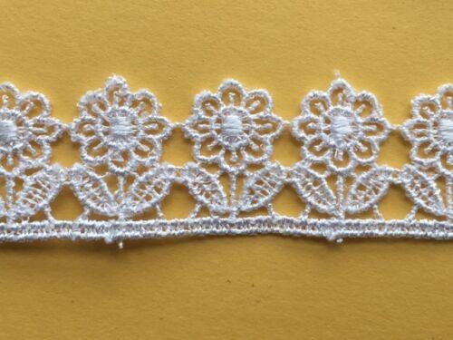 Little Flower Venise Guipure Lace Trim 2cm White Black Ivory Pink laverslace