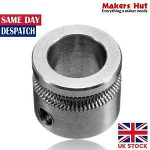MK7 Stainless Steel Extrusion Gear - 8mm Bore - 3D Printer