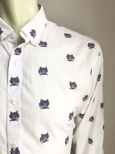 Bonobos Shirt, Rawwwwwwwr!, Large, Slim Fit, Excellent Condition