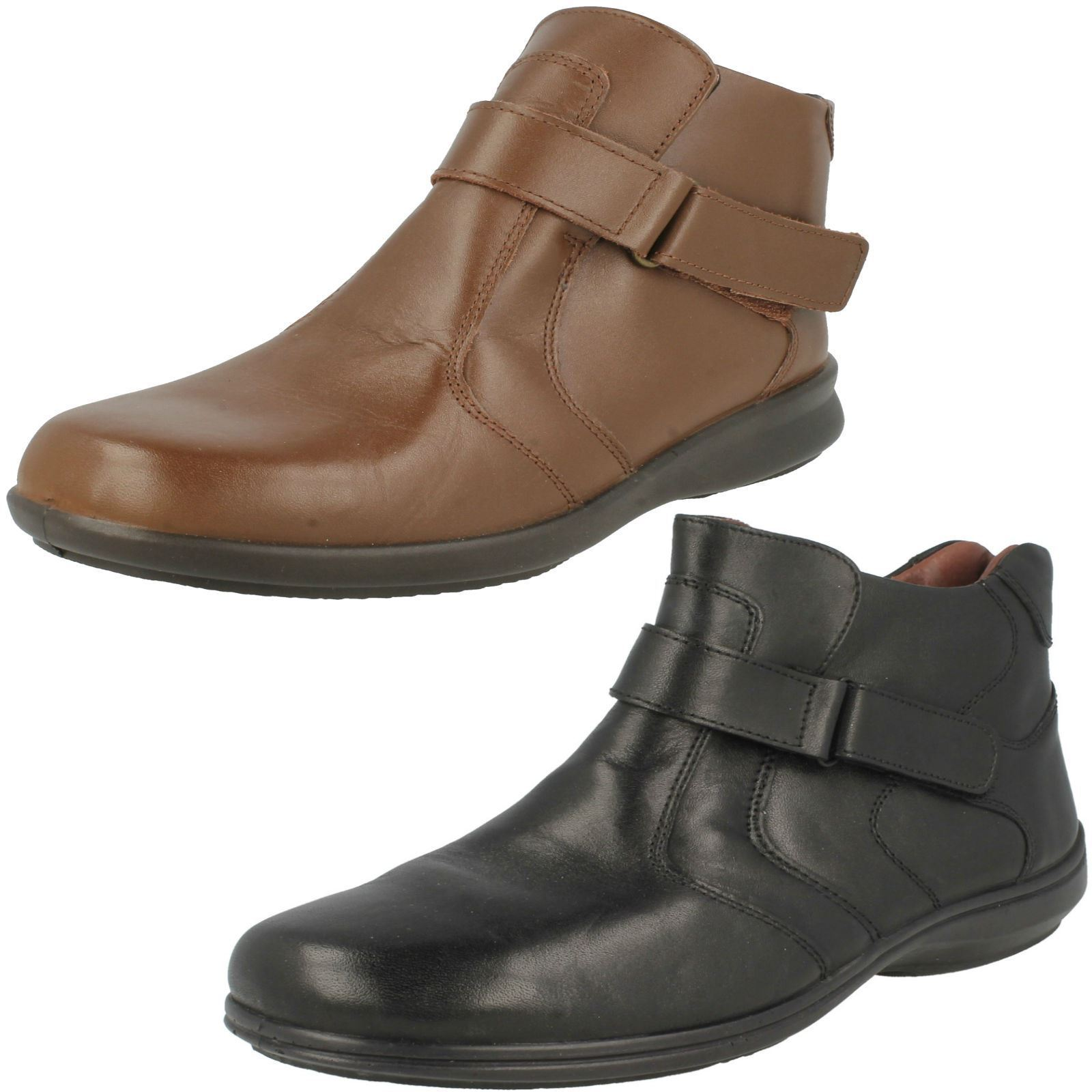 Ladies Easy B Strap Ankle Boots 'Truro'