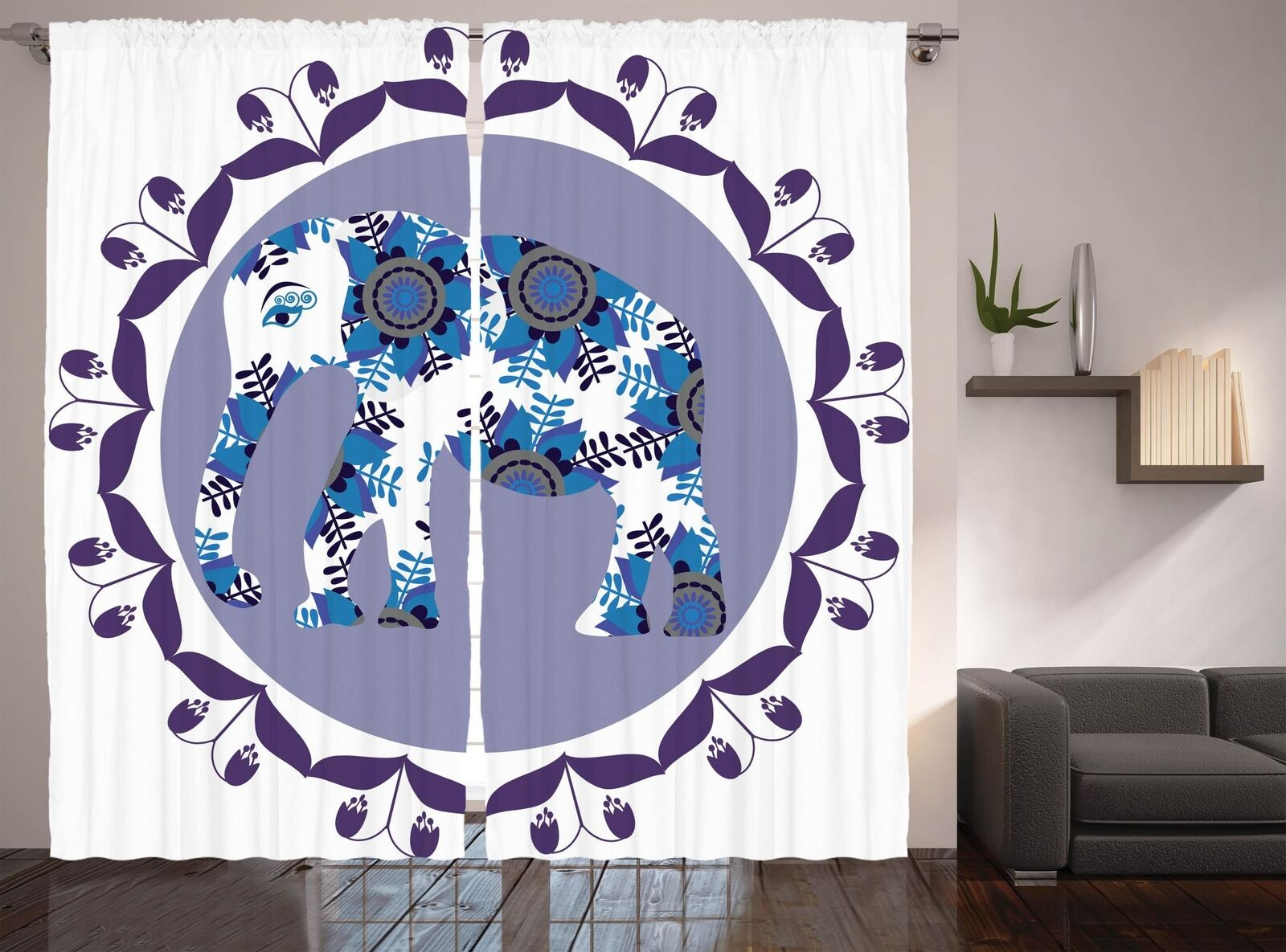 Bohemian Ethnic Curtains Curtains Curtains 2 Panel Set Decoration 5 Größes Window Drapes e3400c