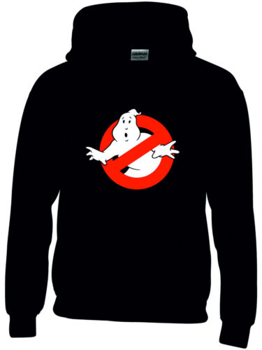 Boys//Girls Black Retro Ghostbusters Hoodie 4 Sizes Movie Classic