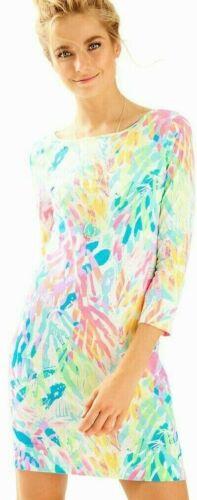 Lilly Pulitzer Marlowe Multi Sparkling Sands Pima Cotton Jersey Dress