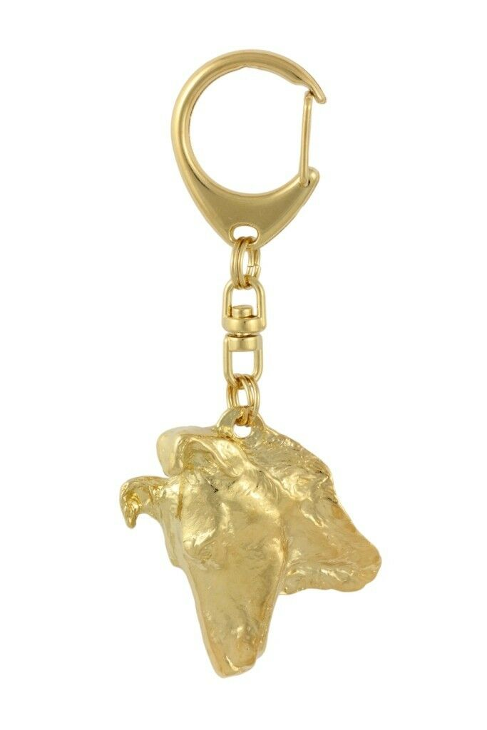 Smooth Collie - Gold coverot coverot coverot keyring with dog high quality keychain Art Dog 1bdbff