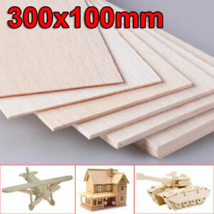 300x100mm-Wooden-Plate-Model-Balsa-Wood-Sheets-DIY-House-Aircraft-1mm-8mm-Thick